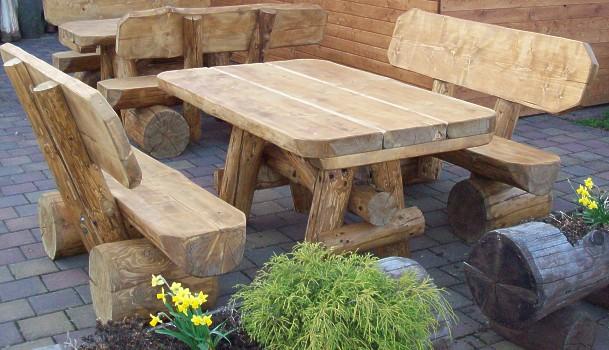 Gartenmobel Rattan Lounge Insel : Rustikale Gartenmbel  Vieles aus Holz  Holzgebrauchsgegenstnde